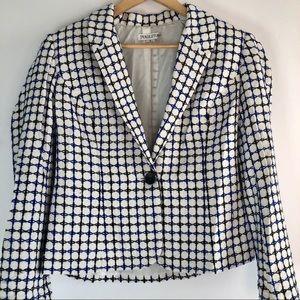 Pendleton silk Stitch Blazer Suit Separate Size 8
